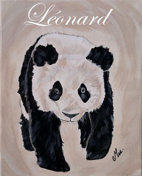 chambre bébé panda tableau enfant bébé panda enfant bébé tableau enfant