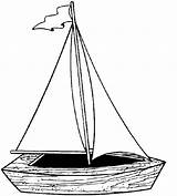 Coloring Pages Yacht Boat Printable Popular sketch template