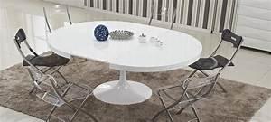 Table Ronde Extensible Design : table ronde extensible blanche table basse de salon ronde objets decoration maison ~ Teatrodelosmanantiales.com Idées de Décoration