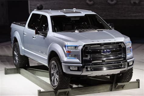 future ford trucks ford steals the show at naias with atlas truck concept