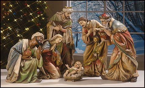 nativity statues section