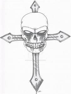 Skull on Metal Cross by SkullDuarte on DeviantArt