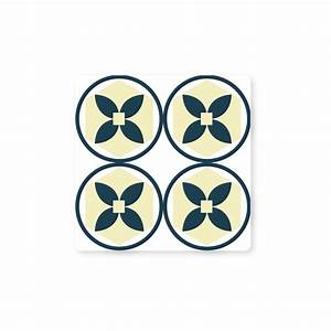 Stickers Carreaux Cuisine : stickers carreaux de ciment cuisine beige et bleu color ~ Preciouscoupons.com Idées de Décoration