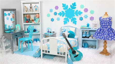 Doll Bedroom For Disney Frozen Elsa! Play With Dolls & Furniture Toys! Princess Dollhouse Room