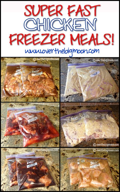 best meals with chicken super fast chicken freezer meals