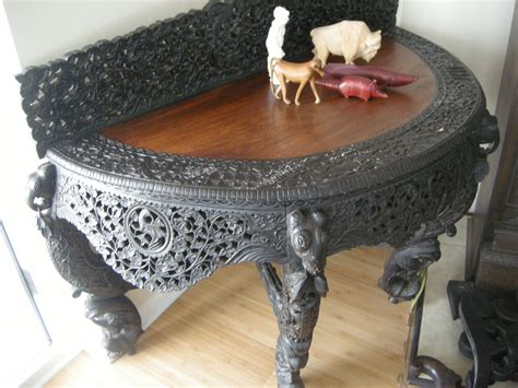 unique furniture antiques for sale meiji period highly carved console table for sale
