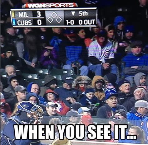 Chicago Cubs Memes - when you see it chicago cubs facts fun