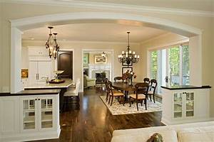 dr kitchen great room open floor plan houses and floor With kitchens with dining areas designs
