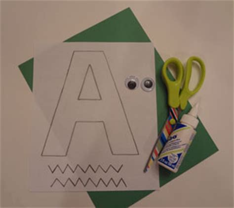 letter  alligator craft  kids network