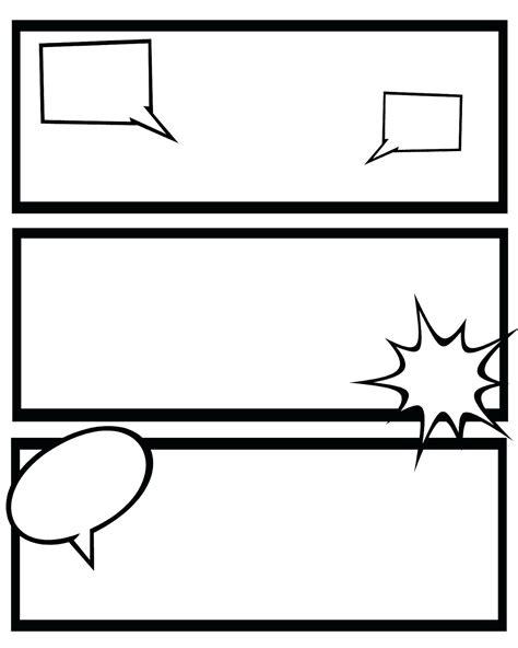 Color Book Template Word by Printable Printable Blank Comic Template