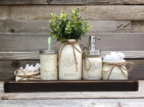 Modern Rustic Bathroom Accessories by Rustic Bathroom Decor Farmhouse Bathroom Decor Jar
