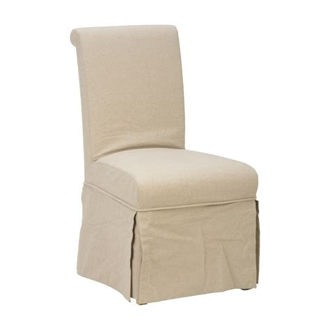 slipcovered chairs jofran 941 162kd slipcover skirted parson side chair set