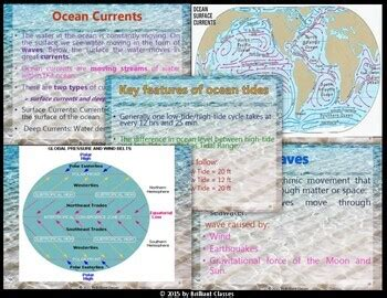 ocean currents waves  tides types
