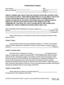 Free Construction Contract Agreement Template