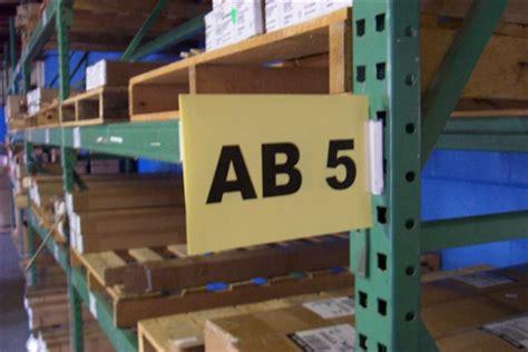 aigner warehouse aisle sign kit