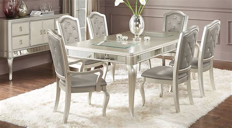 silver dining table set sofia vergara paris silver 5 pc dining room dining room