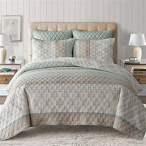 comforter bed sets king kala quilt in seafoam bedbathandbeyond com