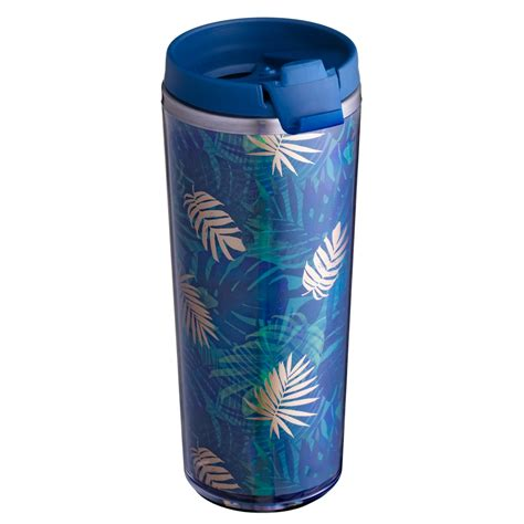 Mixes and matches seamlessly with javafly's other. Double Wall Insulated Travel Mug 350ml - Tropical   Kitchen - B&M