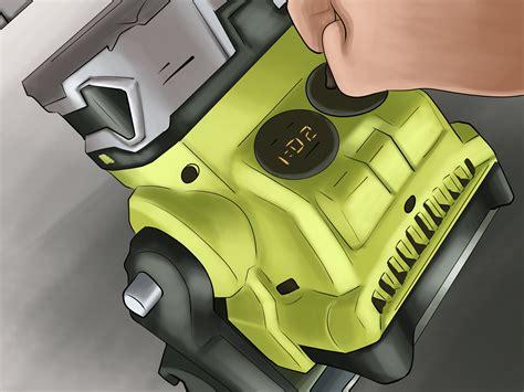 run   ryobi tool   car battery  steps