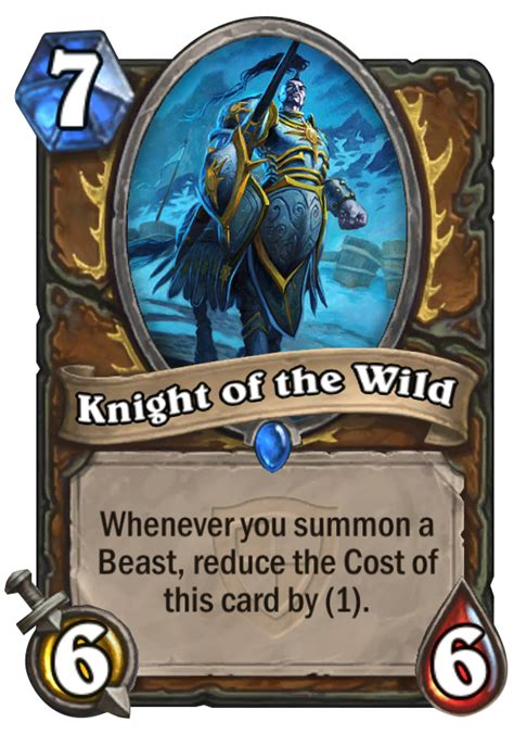 knight of the wild hearthstone card