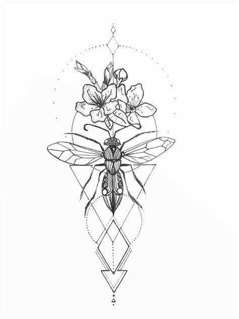 Pin by Prisy Dilly on Grasshopper | Bee tattoo, Insect tattoo, Art deco tattoo