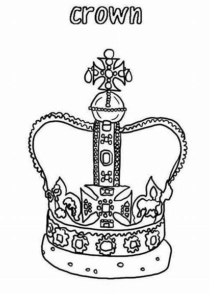 Crown Coloring King Drawing Pages Crowns Template