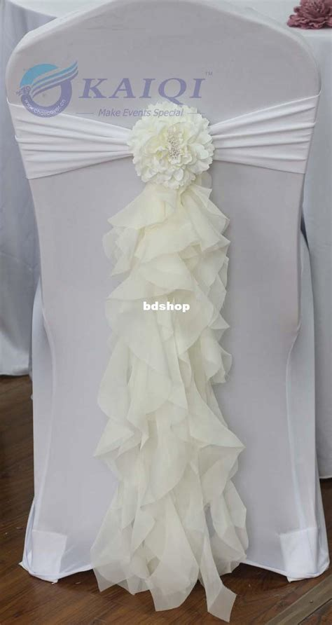 sale sale ivory chiffon chair sash with tie for