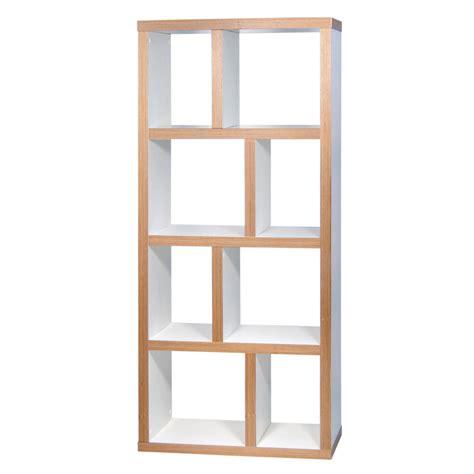 meuble cuisine blanc pas cher etagère bibliothèque berlin 4 niveaux 70 cm blanc bois