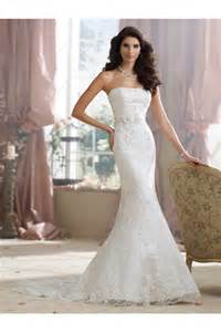 fitted wedding gowns slim fitted mermaid strapless lace beaded wedding dress with crystals flowers