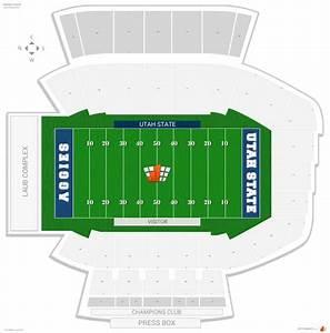 Cowboys Interactive Seating Chart Maverik Stadium Utah State Seating Guide Rateyourseats Com