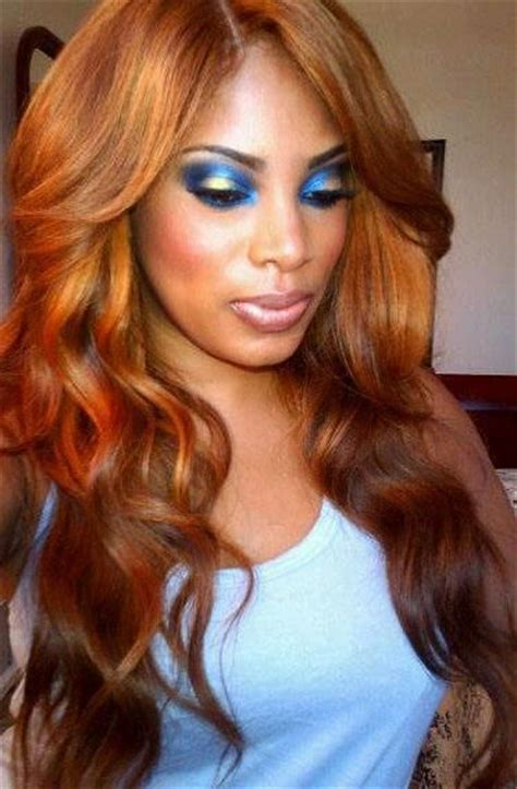 Hair Colour Golden by Blue B Bronze Eye Make Up Brown Skin Pretty And Golden