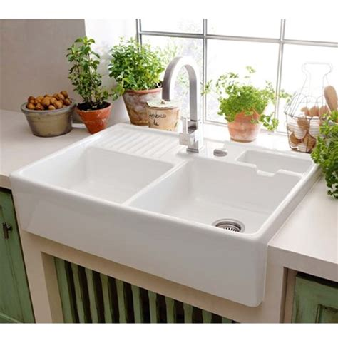 small ceramic kitchen sinks villeroy boch butler 90 alpine white ceramic 1 75 bowl 5360