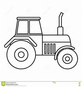 Tractor Icon, Outline Style Stock Vector - Illustration of ...