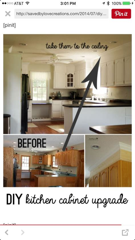 upgrading kitchen cabinets diy kitchen cabinet upgrade with paint and crown molding 3089