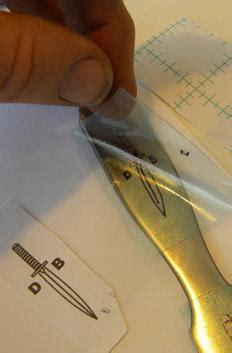 diy easy knife logo metal etching