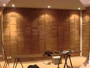 parquet sur mur youtube With parquet sur mur