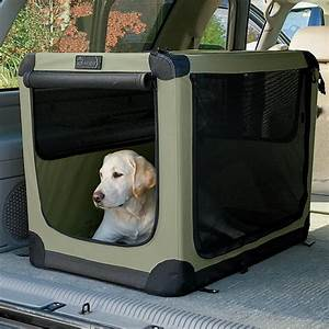Dog travel crates folding nylon travel dog crate orvis uk for Big dog travel crate