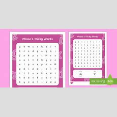 Phase 5 Tricky Words Word Search