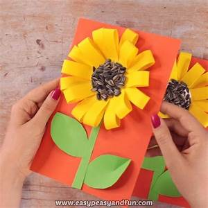 Sunflower With Real Seeds Fall Craft For Kids  With Images
