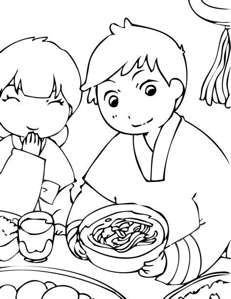 korea coloring page print  page korean holidays