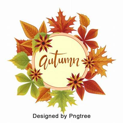 Autumn Leaves Cartoon Hand Elements Leaf Abstract