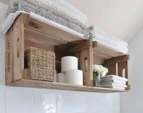 caisse en bois deco salle de bain