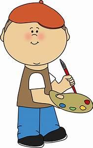 Little Boy French Artist Clip Art - Little Boy French ...