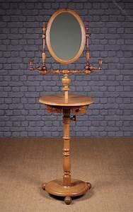 Gentleman, U2019s, Shaving, Mirror, On, Stand, C, 1880
