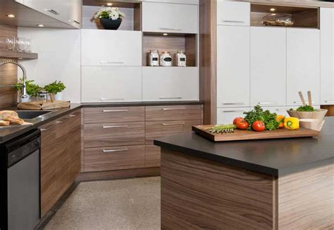 cuisine en m駘amine bois placage mélamine stratifié cuisine kadrium design