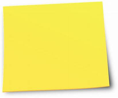 Note Sticky Clipart Notes Yellow Transparent Rectangle