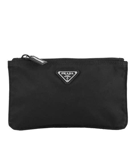 lyst prada tessuto flat small cosmetic bag  black