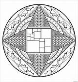 Mandala Coloring Complexe Printable Coloringpagesonly sketch template