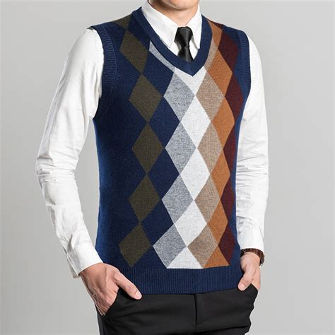 mens sweater vest aliexpress com buy wool sweater vest 2016 argyle