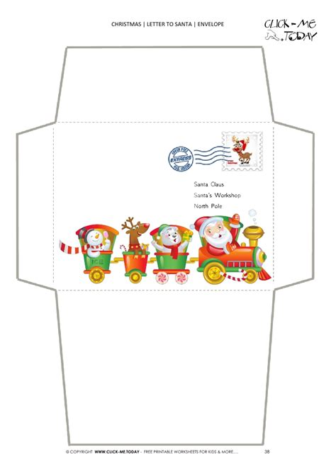 envelope  santa template  newborn  postage stamp